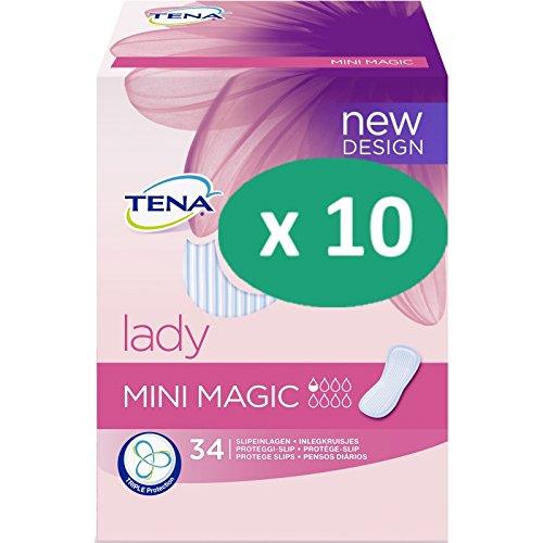 Tena Lady Mini Magic - 10 paquetes de 34 protectores