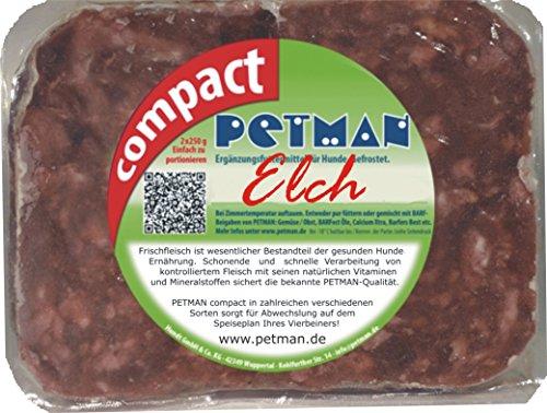 petman compact Elch, 12 x 500g-Beutel, Tiefkühlfutter, gesunde, natürliche Ernährung für Hunde, Hundefutter, Barf, B.A.R.F.