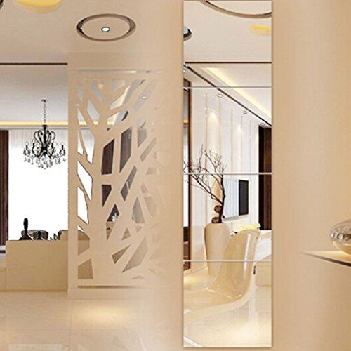 Bloomy Home- Espejo de Cuerpo Entero montado en la Pared Espejo de Pared sin Costuras sin Costuras Espejo de Espejo Espejo de baño Espejo de baño Paquete de 4 Espejos de Pared (Tamaño : 26cm*4)