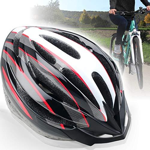 Fahrradhelm für Erwachsene (Unisex) mit abnehmbarem Visor (M, ROT)