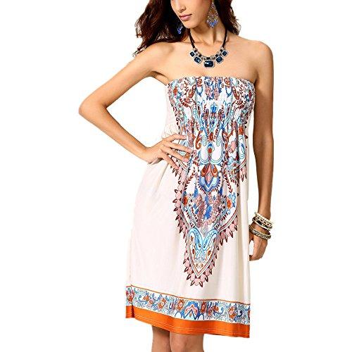 Preisvergleich Produktbild Grace Kalin Damen-Sommerkleid / -Strandkleid mit V-Ausschnitt,  lockere Passform,  zum Überziehen über einen Badeanzug