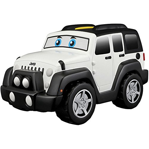 Bburago Maisto France- BB Junior Push and GO Son & Motorisée-Jeep Wrangler Voiture, 81801, Blanc