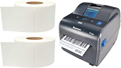 """$404 » Intermec PC43d Desktop Direct Thermal Label Printer with LCD Display and USB, Easy-to-Use Barcode Label Printer with 2 Rolls of 4"""" x 6"""" Labels"""