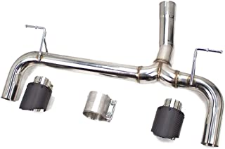 Rev9(CB-211A_2) Stainless Steel Axle-Back Muffler Bypass System w/Carbon Fiber Tip Fits BMW 330i/330iX/340i/340iX (F30) 2013-19