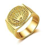 Wahyou Hip Hop/Rock anillos de oro de 18 K corona para hombre mujer compromiso boda fiesta joyas para amistad joyas accesorios de cumpleaños, día de San Valentín, aniversario dorado 11