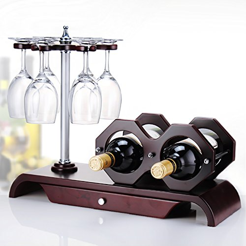 IAIZI Tenedor De La Copa De Vino Tenedor del Cubilete con El Cajón, 47 * 18 * 37.5cm, Vinilos Decorativos del MDF del Rojo De Vino Ornamentos Decorativos De La Sala De Estar del Gabinete del Vino