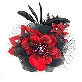 コサージュ 入学式 コサージュ フォーマル 2way ヘッドドレス 卒業式 花 大輪 コサージュ結婚式 髪飾り fh19136rdbk