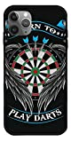 HHTEE Case Compatible with iPhone 8 Darts Cute Zohmo Sports Good Vibes Pure Clear Glass Phone Cases Cover Full Body