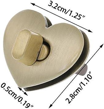 Gold Exing Handtasche Twist Lock Magnetverschluss Geldb/örse Snaps Closures f/ür Handtasche Brieftasche Tasche DIY