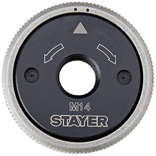 Stayer 11.4624 Tuerca de apriete rápido para Amoladora, insercción M14, Gris