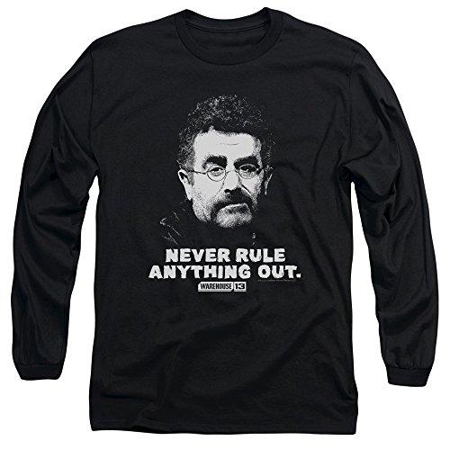 Warehouse 13 - Artie à manches longues pour hommes T-shirt, Medium, Black