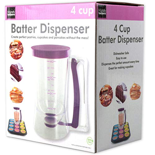 Affordable 7.25 4-Cup Batter Dispenser with Squeeze Handle