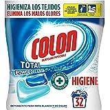 Colon Total Power Gel Caps Higiene - Detergente para Lavadora con activos higiénicos, Formato Cápsulas - 32 dosis
