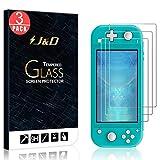 J&D Compatible para Nintendo Switch Lite Protector de Pantalla, 3 Paquetes [Vidrio Templado] [Cobertura Completa] Cristal Templado Protector de Pantalla para Nintendo Switch Lite