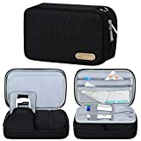 Betoores Insulin Travel Case for Diabetic Supplies, Portable Medication Diabetic Organizer Bag Wallet for Blood Glucose Meter and Other Diabetic Supplies - Black