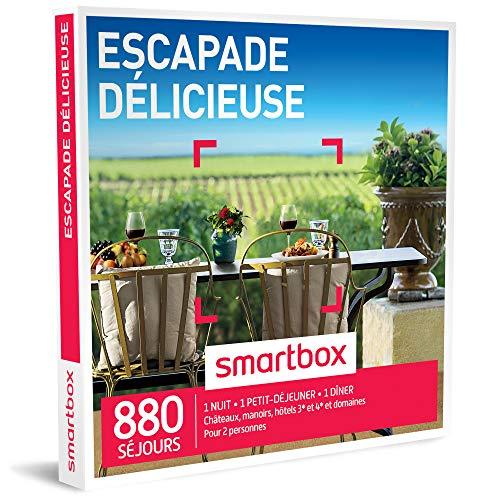 SMARTBOX - Coffret Cadeau homme femme couple - Escapade délicieuse - idée cadeau - 880 séjours : 1 nuit • 1 petit-déjeuner • 1 dîner pour 2