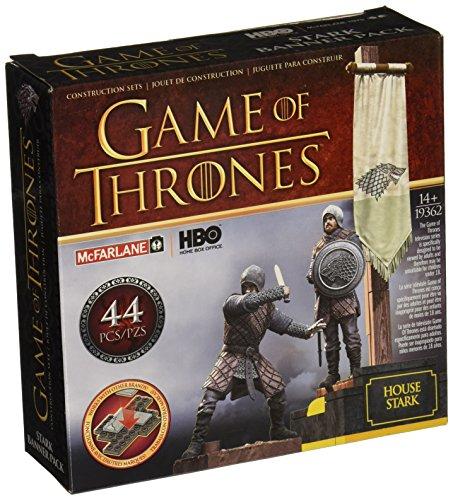 Game Of Thrones Banner Pack Stark Kit de construction (marron/gris)