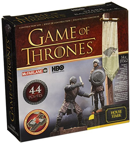 Game of Thrones- Puzles Juego de Tronos Set de Construcci&ampoacuten Estandarte Casa Stark, Multicolor, Ninguna (MC Farlane MCFGT019362)