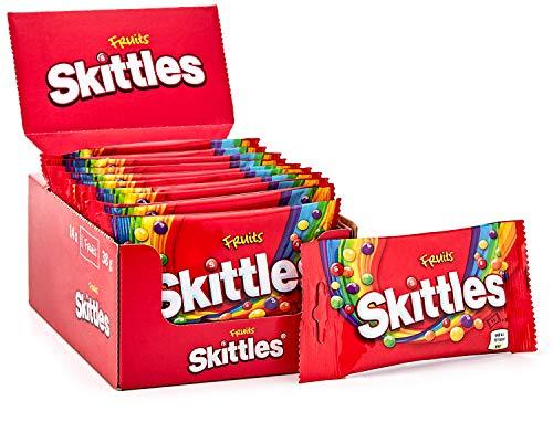 Skittles Süßigkeiten   Halloween Kaubonbons   Fruits   Ananas, Mandarine, Kirsche und weitere Aromen   14 x 38 g   0.53kg