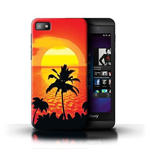 Stuff4 Hülle/Hülle für BlackBerry Z10 / Tropischer/Sonnenuntergang Muster/Schöne Weltkunst Kollektion