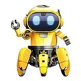 SELVA Robot Spider, Kit de Robot, 107 Piezas, Bricolaje, con Efectos de Sonido y luz, rotación de 360°, para Adultos y niños (a Partir de 8 años)