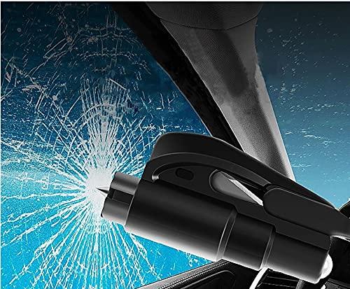 Das Notfall-Schlüsselanhänger-Auto-Fluchtwerkzeug, 2-in-1-Sicherheitsgurtschneider und Fensterbrecher-Schlüsselbund-Sicherheitshammer, Sicherheits- und Überlebenswerkzeug (Violett) (Schwarz)