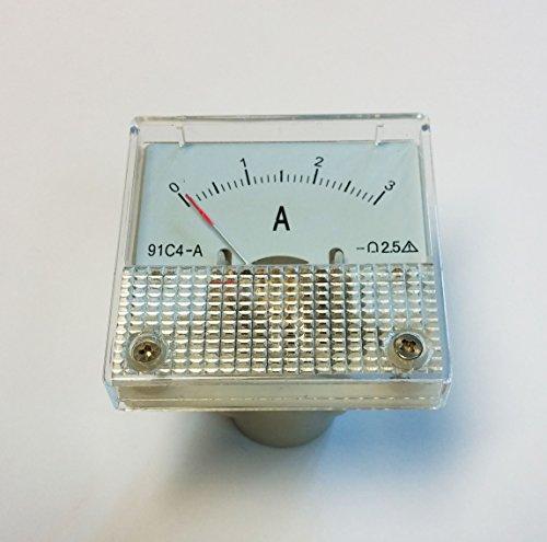 Analoges Einbau-Amperemeter DC 0-3A