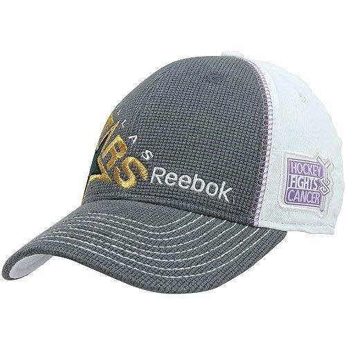 Reebok NHL Dallas Stars Hockey Fights Cancer Flexfit Hat - Size L/XL - M155Z