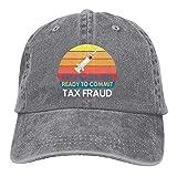 Gymini Vacunado y listo para cometer fraude fiscal 1 sombreros algodón lavable gorras de béisbol ajustable para hombre mujer gris
