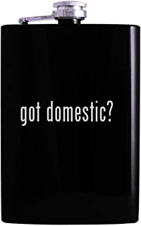 got domestic? - 8oz Hip Alcohol Drinking Flask, Black