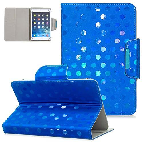 UGOcase - Funda Universal de Piel sintética para Tablet Samsung Galaxy Tab E 7.0/Tab 3/Tab A 7.0/Fire 7.0 / y más de 6.5-7.5 Pulgadas V-Azul For 9.5-10.5 Inch Tablet