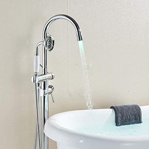 Votamuta Floor Mounted LED Bathtub Faucet