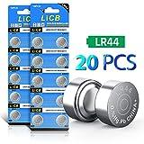 LiCB 20個 LR44 ボタン電池 1.5V アルカリ電池【SR44、303、AG13、357互換】