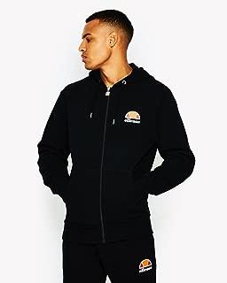 Men's Miletto Zip Logo Hoodie, Black
