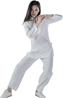 KSUA Womens Tai Chi Suit Chinese Kung Fu Clothing Cotton Wing Chun Uniform Yoga Suit Zen Meditation Martial Arts