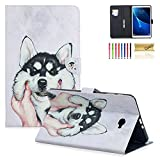Casii Samsung Galaxy Tab A 10.1 Case, Lightweight Protective PU Leather Folio Slim Flip Leather Stand Cover with AUTO Sleep/Wake for Samsung 10.1' SM-T580/T585 Tablet (No S Pen Version), Cute Dog