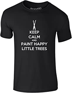 Brand88 - Keep Calm and Paint Happy Little Trees, Adults T-Shirt