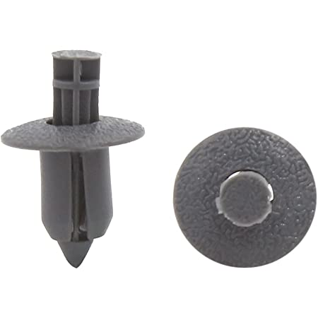 uxcell 50 Pcs Gray Plastic Moulding Clip for 8mm Hole