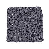 Fdit - Manta para sofá (100% algodón), diseño Grueso, Gris, 2#