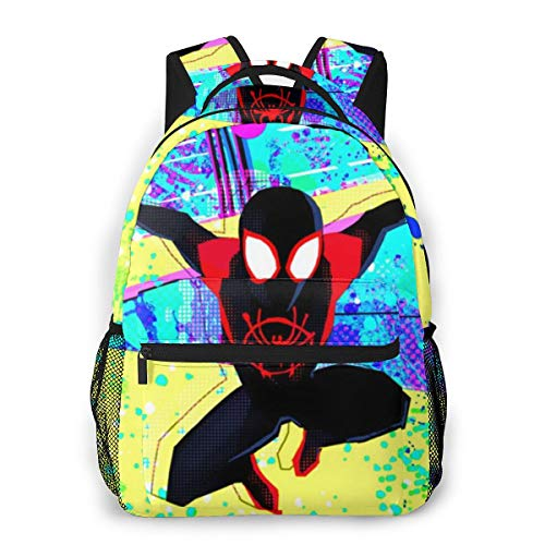 Spi-derman Into The Verse Classic School Backpack,College Schoolbag Travel Bookbag Black For Boys Girls