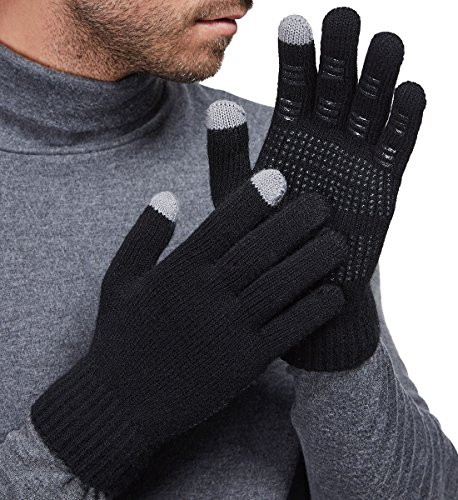 non-slip touchscreen gloves