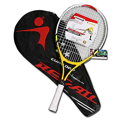 SJF Raqueta de Tenis para niños de 23', Raquetas de Tenis súper Ligeras, a Prueba de Golpes y a Prueba de tiros, Durable, envía una Bolsa de Tenis, para Entrenamiento Deportivo para niñas y niños