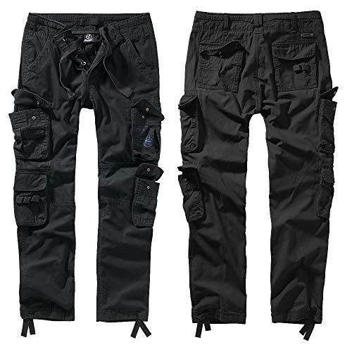 Brandit Hose Pure Vintage Slim FIT NEU Cargohose LANG BW Army Outdoor Cargo, Größe:XXL, Farbe:Schwarz