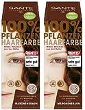 Sante Pflanzenhaarfarbe Haarfarbe im Doppelpack maronenbraun 2 x 100 g im Set für ein tolles...
