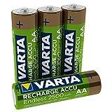 VARTA Recharge Accu Endless Energy AA Mignon Ni-Mh Akku 4er Pack 2500 mAh - bis zu 500 Ladezyklen, geringe Selbstentladung, vorgeladen und Ready2Use - wiederaufladbar ohne Memory Effekt