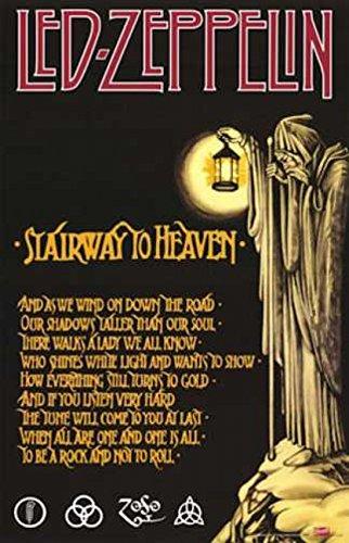 LED Zeppelin/Stairway Stairway to Heaven Poster Drucken (60,96 x 91,44 cm)