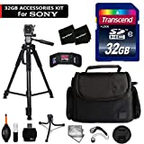 32GB Accessory Kit for Sony Alpha A6300, a6000, a5100, a5000, a3000, Alpha a7II, a7IIK, 7, 7 II, 7S, 7R Digital Cameras Includes 32GB High-Speed Memory Card + Fitted Case + 72 inch Tripos + More