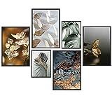 Set di 6 immagini di alta qualità, decorazione da parete, per soggiorno, camera da letto, ufficio, decorazione da parete, senza cornice