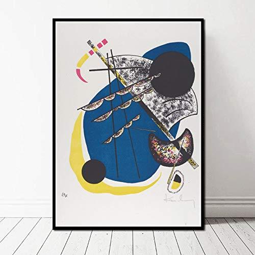TELEGLO (No Frame) 50 * 70cm Wassily Kandinsky Abstract Berühmte Kunstwerke Kunst Gemälde Poster Leinwand Kunstdruck Wandbilder für Wohnzimmer