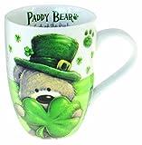 Paddy Bear Irish Designed Mug with Shamrock Design and Ireland Text